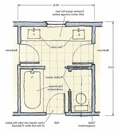 Bathroom Layout Jack And Jill jack and jill bathrooms for the kids each have thier own sink but