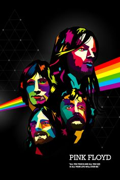 Mini poster - i love pink floyd