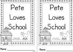 Literacy and Laughter - Celebrating Kindergarten children and the books they love: Pete the Cat 1st Day Of School, Beginning Of The School Year, Starting School, I School, Back To School, School Stuff, School 2017, Preschool Books, Kindergarten Literacy