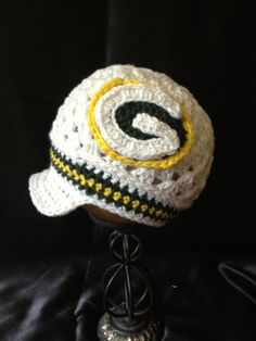 3b41f8c01 Items similar to White Green Bay Packers Hat with Brim on Etsy