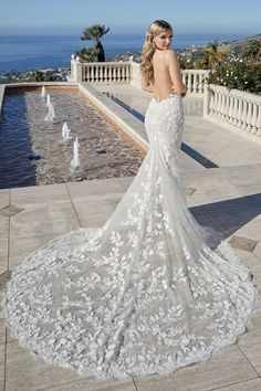 Wedding Dress Shopping, Best Wedding Dresses, Lace Wedding, Blush Bridal, Bridal Gowns, Fit And Flare Wedding Dress, Designer Wedding Gowns, Bridal Boutique, Floral Lace