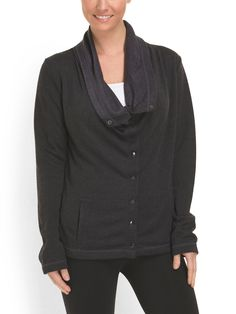 MONDETTA Herringbone Snap Front Jacket for $29 at @tjmaxx