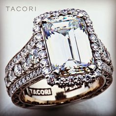 This isn't too flashy, right?  5carat emerald-cut #RingLust