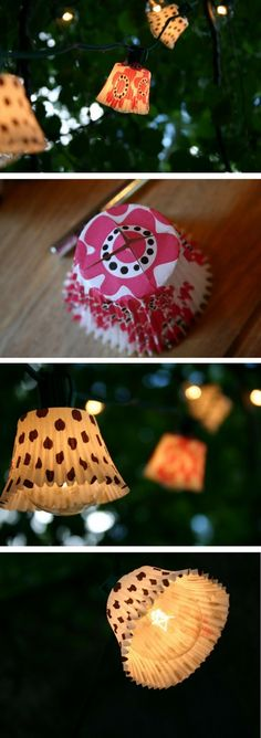 Check out the tutorial on how to make easy DIY outdoor cupcake lights @istandarddesign