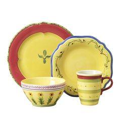Pfaltzgraff Pistoulet 16-pc. Dinnerware Set, Multicolor