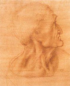 """""""Studio per l Ultima Cena 2"""", gesso di Leonardo Da Vinci (1452-1519, Italy)"""