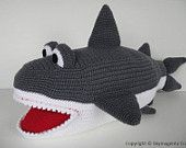 Crochet Pattern - SHARK - in pdf