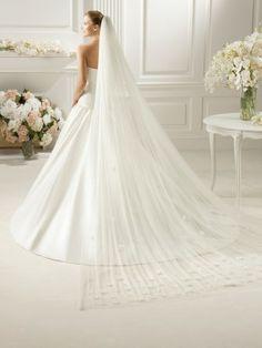 Pronovias Veils - Style V-2714 [V-2714] : Another picture of my veil. :)