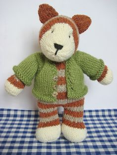 Tabby Cat toy knitting pattern £3.00