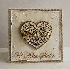 Dorota_mk: Serducha Z Cards, Card Tags, Greeting Cards, Valentine Love Cards, Valentine Crafts, Scrapbooking, Scrapbook Cards, Valentine's Day Paper Crafts, Shabby Chic Cards
