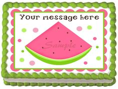 "WATERMELON++Edible+image+cake+topper+1/4+sheet+(10.5""+x+8"")"