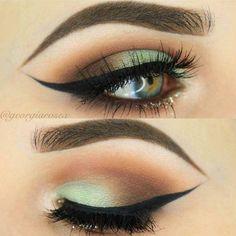 48 Magical Eye Makeup Ideas - Makeup Tips , 48 Magical Eye Makeup Ideas Sea Mist And Seashells Make-up. Gorgeous Makeup, Love Makeup, Makeup Inspo, Makeup Inspiration, Beauty Makeup, Makeup Ideas, Makeup Tutorials, Sleek Makeup, Unique Makeup