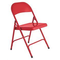 MACADAM Red metal folding chair