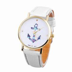 Women Wrist Watch luxury Vintage Anchor Leather luxe 160