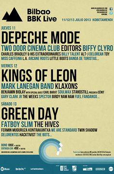 El Festival Bilbao BBK Live anuncia la presencia de 16 nuevos artistas para su próxima edición, que se celebrará entre los días 11 y 13 de julio. Mark Lanegan, Klaxons, Benjamin Biolay, Charles Bradley, Billy Talent y Fermín Muguruza, entre otros, se incorporan al listado de grandes solistas y grupos que llenarán las campas de Kobetamendi y que compartirán escenario con grandes estrellas como Green Day, Depeche Mode, Kings Of Leon o Editors.