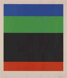Ellsworth Kelly - Blue-Green-Black-Red (1971)