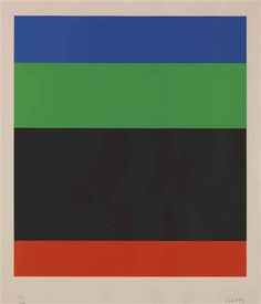 Ellsworth Kelly - Blue-Green-Black-Red (1971)