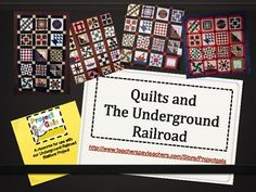 A great resource in exploring the history of quilting and how quilts were used to symbolize secret escape routes on the Underground Railroad. Free