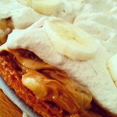 Banoffee taart. Banaan/caramel taart