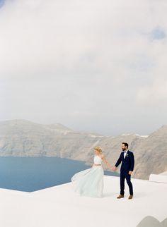 Santorini wedding inspiration//