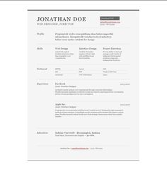 sample resume outline 10 Free Professional HTML & CSS CV/Resume Templates Free Online Resume Templates, Best Cv Template, One Page Resume Template, Resume Design Template, Creative Resume Templates, Templates Free, Design Resume, Design Templates, Html Css