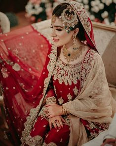 Pakistani Brides Are Setting Some Serious Bridal Goals Pakistani Wedding Outfits, Pakistani Wedding Dresses, Bridal Outfits, Pakistani Bridal Jewelry, Bridal Jewellery, Bridal Lehenga, Western Jewellery, Wedding Jewelry, Bridal Makeover