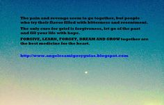 ÁNGELES AMIGOS Y GUÍAS: DAILY MESSAGE FORGIVE, LEARN, FORGET, DREAM AND GR...