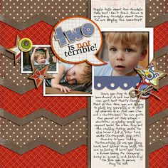 Layout by Heddy. Supplies: Paper-Lovin' Vol. 1 Templates by Nettio Designs; Here Comes Trouble by Traci Reed and Tracie Stroud.