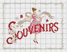 0 point de croix femme souvenirs - cross stitch lady