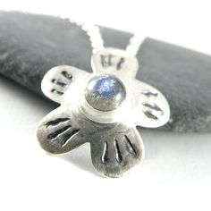 Labradorite Jewelry Sterling Silver Necklace by EfratJewelry, $52.00