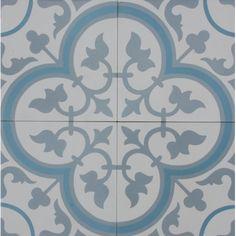 Encaustic Tile - VA Seville Handmade Aqua Encaustic Tile x - The Tile Company Mosaic Tiles, Wall Tiles, Tiling, Home Design, Adobe Photoshop, Tile Care, Coloured Grout, Border Tiles, Encaustic Tile