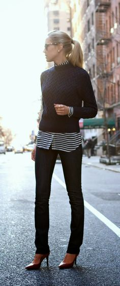 Like the idea, not sure if I am tall enough to pull off the untucked shirt underneath the sweater?