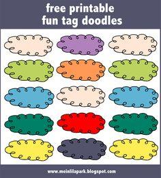 FREE digital and printable fun tags | MeinLilaPark – digital freebies