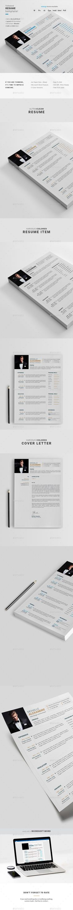 Buy Resume by Vixendre on GraphicRiver. Professional Resume / CV Template with super modern and professional look. Elegant page designs are easy to use and c. Best Resume Template, Resume Design Template, Flyer Design Templates, Cv Template, Portfolio Professional, Professional Resume, Cv Design, Page Design, Graphic Design