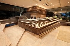SHUNSHOKU Lounge GURUNAVI / Kengo Kuma & Associates / www.londondesignjournal.com