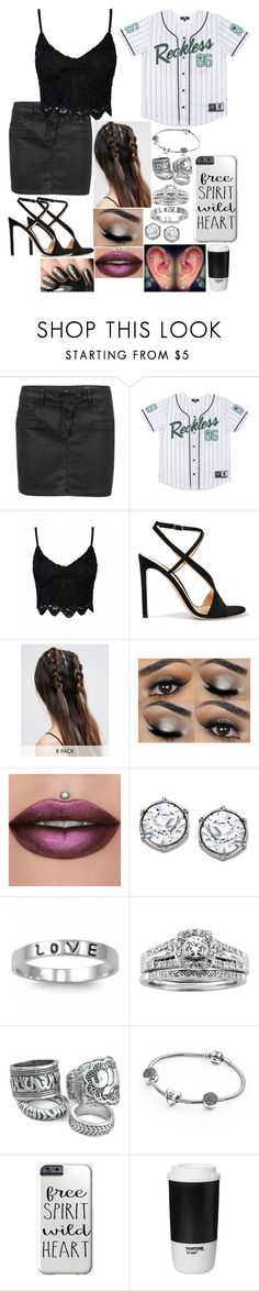 """""""Untitled #3201 - 🎧 so hear me scream, i was too young to understand what it means. i couldn't wait til i could be seventeen. i thought he lied when he said take my time to dream, now i wish i could freeze the time at seventeen. 🎧"""" by nicolerunnels ❤ liked on Polyvore featuring Vero Moda, Gianvito Rossi, ASOS, J.A.K., Swarovski, Fantasy Jewelry Box, A.Jaffe, Pandora and Pantone"""
