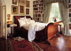 Old world, cozy and romantic with crisp, white sheets. That sleigh bed doesn't hurt either!