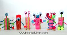 We absolutely loved making these toilet paper roll aliens. We love making things out of recycled materials and toilet paper roll crafts are always a hit.