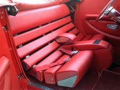 Original & unusual. Custom Car Interior, Car Interior Design, Truck Interior, Car Interior Upholstery, Automotive Upholstery, Best Cars For Teens, Leather Seat Covers, New Luxury Cars, Car Furniture