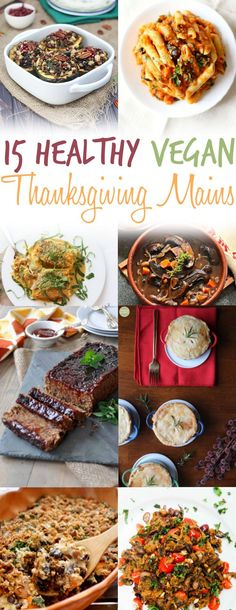Below are 15 vegan main dish recipes that will be a great addition to your Thanksgiving dinner (note these don't require a turkey, chicken, or duck, … or a combination of all three in one).