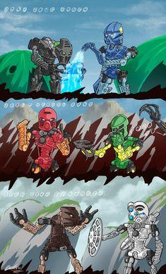 Lego Bionicle, Bionicle Heroes, Character Concept, Character Art, Elemental Magic, Bio Art, Hero Factory, Lego Design, Robot Art