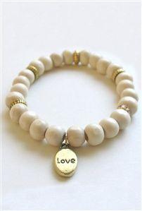 Bijouterie Wood Love Charm Bracelet in Light