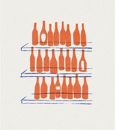 Nature Illustration, Pattern Illustration, Graphic Design Illustration, Wine And Coffee Bar, French Pop, Wine Poster, Wine Logo, Pix Art, Bar Logo