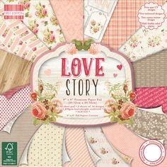 First Edition Premium Paper Pad 8 X8  48/Pkg-Love Story, 16 Designs/3 Each