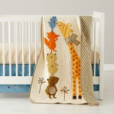 Bright Eyed, Bushy Tailed Crib Bedding  | The Land of Nod [first time ever typing 'Squeeee!!']