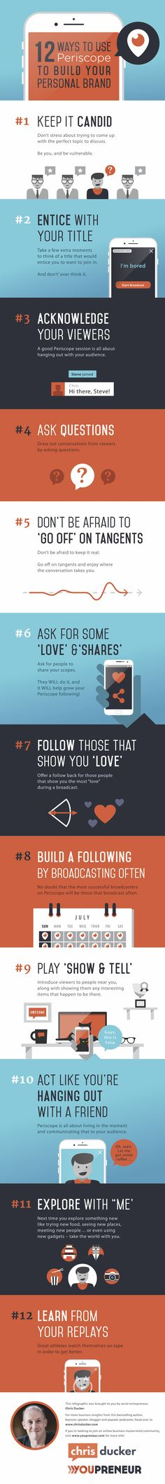 How to Use Periscope to Build Your Personal Brand [Infographic] Social Media Today Social Media Branding, Social Media Tips, Social Media Marketing, Content Marketing, Marketing En Internet, Online Marketing, Marketing Ideas, Marketing Tools, Social Business