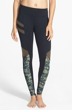 Solow 'Digital Camo' Print Leggings (Online Only) available at #Nordstrom