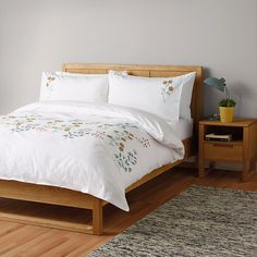 Buy John Lewis Scandi Embroidery Duvet Cover and Pillowcase Set, Single Online at johnlewis.com