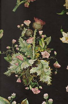 Embroidery by Mary Delaney. The pieces pictured here are thought to have been parts of a court gown. -Gorgeous!