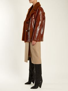 Double-breasted shearling coat   Yves Salomon   MATCHESFASHION.COM